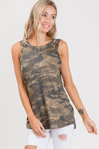 Animal Instinct Top in Camo