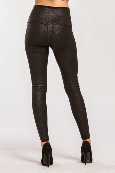 Snakeskin Pleather Leggings