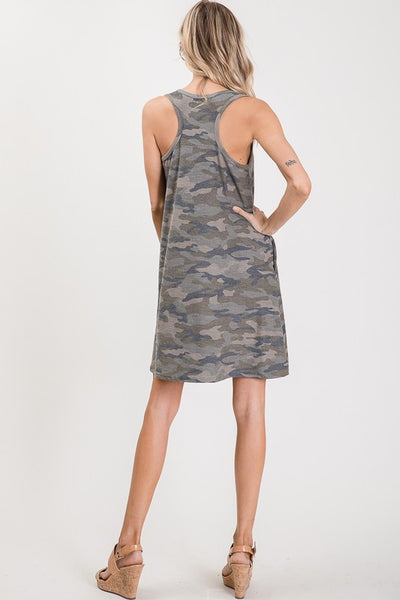 On the Lookout Camo Dress