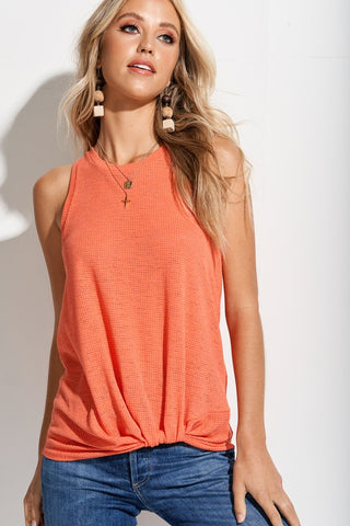 Knotted Tank in Coral