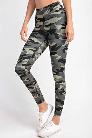 The BEST Leggings in Olive/Black Camo