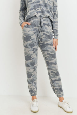 Ultra Soft Camo Lounge Set in Grey