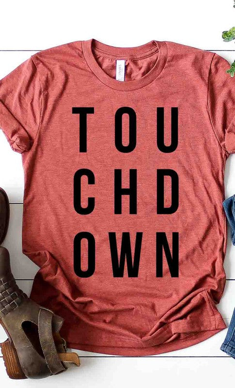 Touchdown Tee in Heather Clay