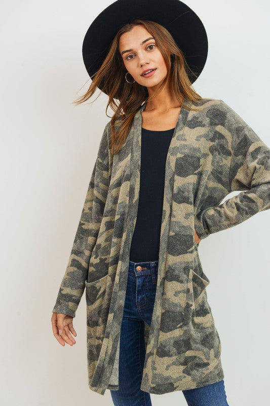Brushed Camo Cardigan(PREORDER)
