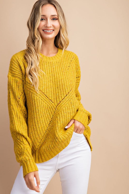 Sparks Fly Sweater in Mustard