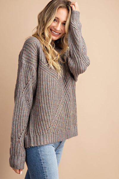 Sparks Fly Sweater in Grey