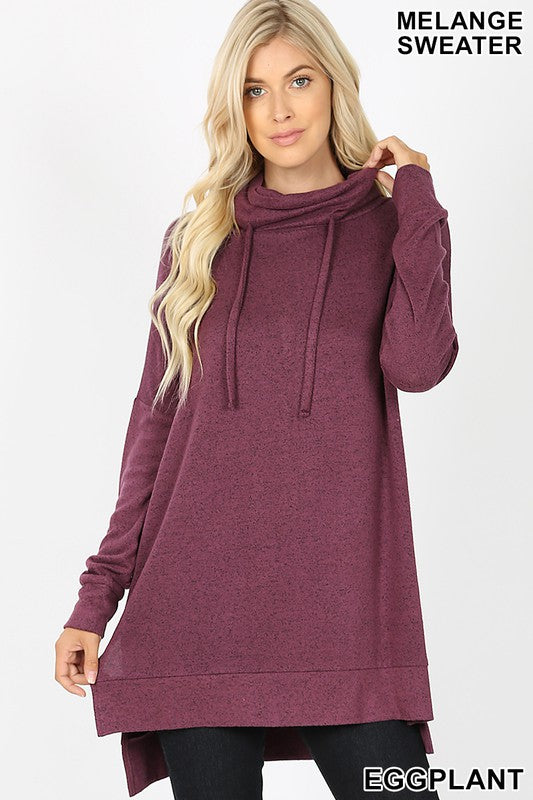 Time to Relax Tunic in Eggplant