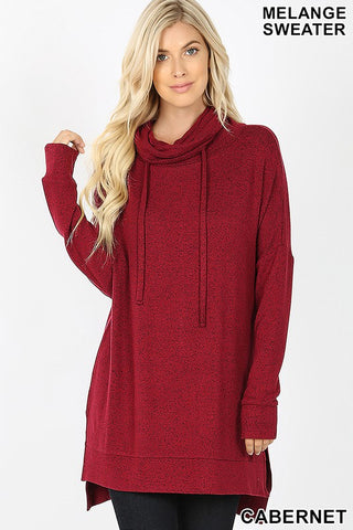 Time to Relax Tunic in Cabernet