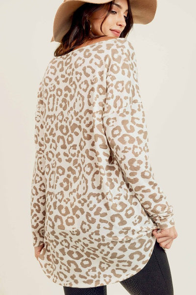 Day to Day Leopard Top in Cream