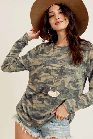 Classic Army Green Camo Top
