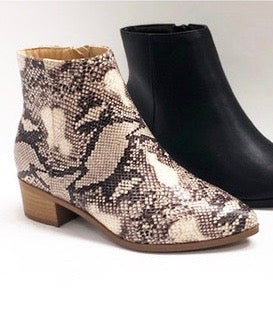 Super Chic Snakeskin Booties