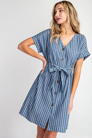 Dance With Me Denim Dress