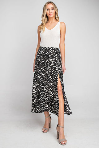 Cheetah Skirt in Black