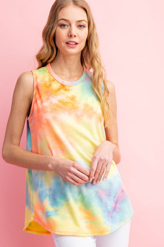 Bright Summer Tie Dye Tank