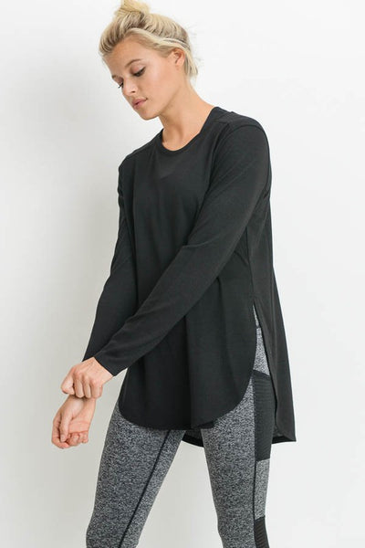 Laid Back Long Sleeve Top in Black