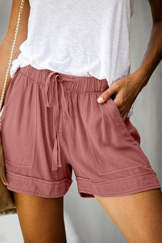 Lived In Shorts in Rose