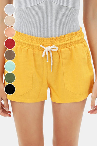 Essential for Summer Shorts in Yellow