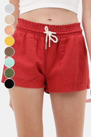 Essential for Summer Shorts in Red