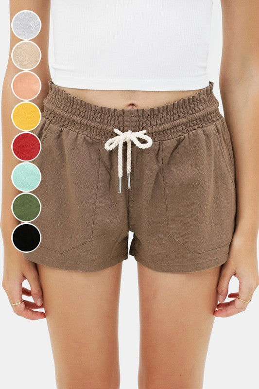 Essential for Summer Shorts in Mocha