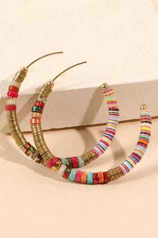 Bohemian Bliss Hoop Earrings in Multi