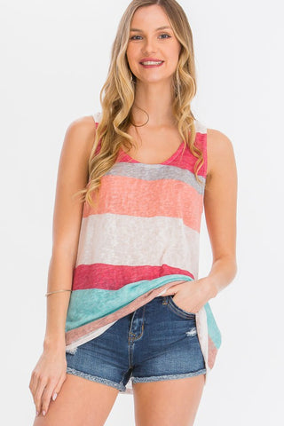 Brighten Your Day Striped Tank