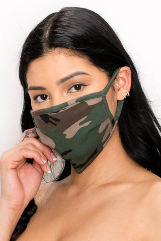 Unisex Face Mask in Camo