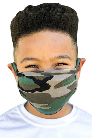 Kids Face Mask in Camo