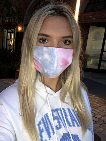 Face Mask Grey/Pink Tie Dye