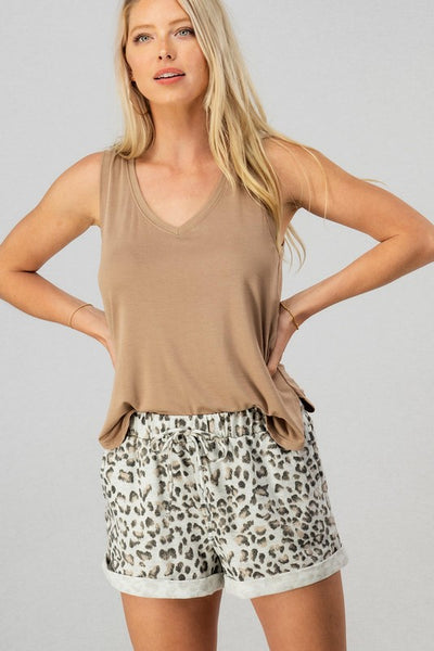 Comfort and Style Leopard Shorts