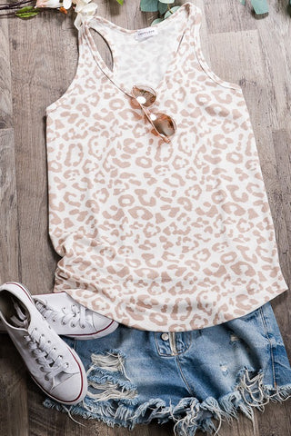 Ready To Go Leopard Top in Taupe