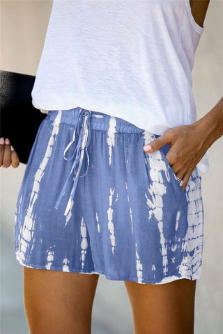 Wild Side Tie Dye Shorts in Blue