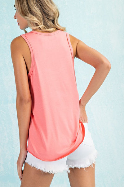 Summer's Best Basic Tank in Fusion Coral
