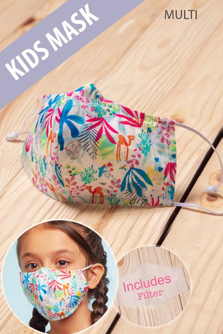 Kids Face Mask in Bright Multi