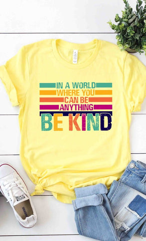 BE KIND Graphic Tee in Yellow