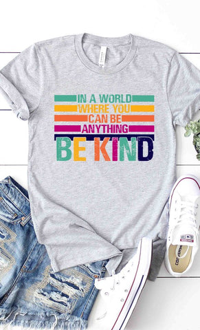 BE KIND Graphic Tee in Grey