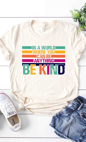BE KIND Graphic Tee in Cream