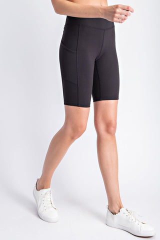 Rockin' Biker Shorts in Black