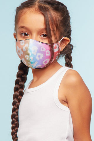 Kids Face Mask in Blush/Aqua