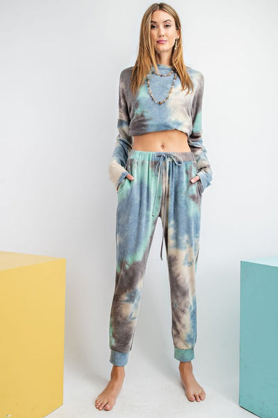 To Dye For Lounge Set in Blue Combo