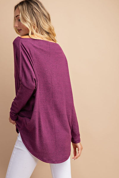 Simply Perfection Off the Shoulder Top in Plum