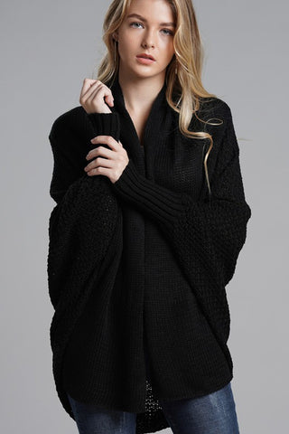 Cooler Nights Cardigan in Black