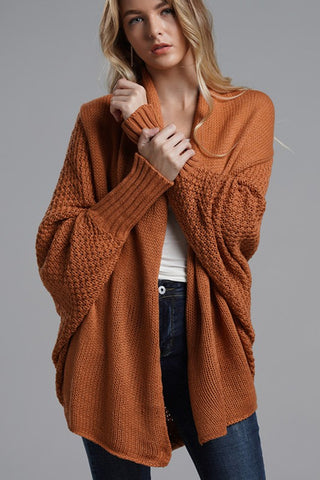 Cooler Nights Cardigan in Rust