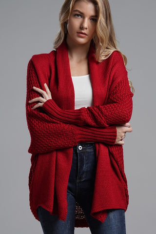 Cooler Nights Cardigan in Red