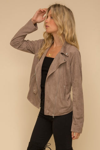 Ultra Chic Moto Jacket in Cocoa