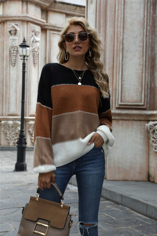 Cold Days Color Block Sweater