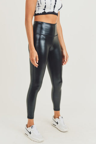 Glossy Active High Waist Leggings