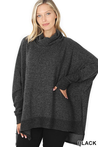 Keeping You Warm Sweater in Black