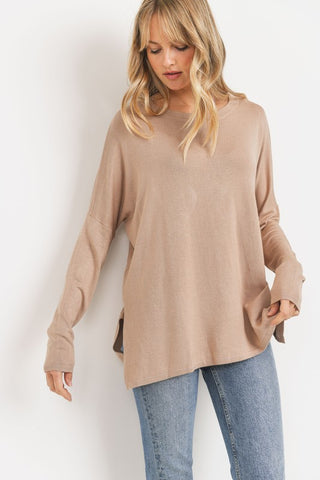 Committed to You Sweater in Taupe