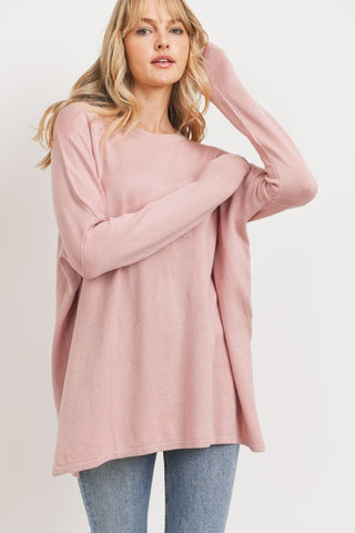 Committed to You Sweater in Mauve