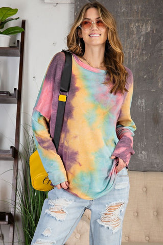 Bright Colors is Your Game Tie Dye Top